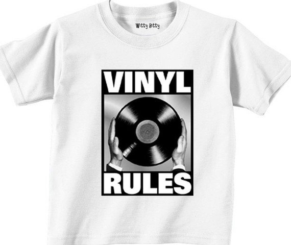 VINYL RULES - Music - Vinyl - Album - Record Player - Old Fashioned - Funny - Any Size Infant or Toddler Tshirt or Onesie
