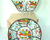 Kwanzaa fabric bowls, set of 2