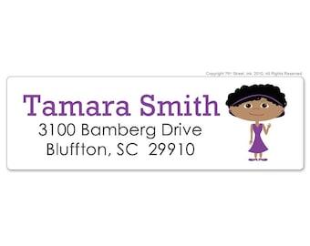 Personal Return Address Labels, Custom Return address Labels, Address Label, Custom Sticker, Personalized Address Label, Cartoon Portrait