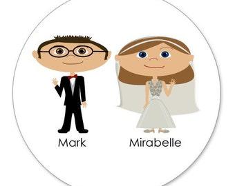 Personalized Wedding Envelope Seals