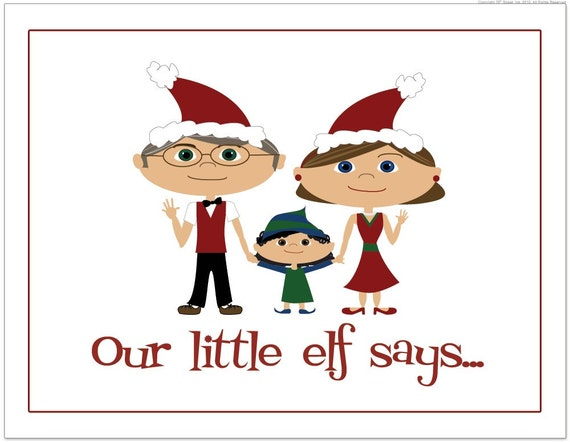 Grandparent Card, Family Card, Personalized Family Card, Family Cartoon, Personalized Christmas Card, Funny Christmas Card, Xmas Cards