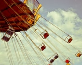 Photo of Empty Swings at Navy Pier - Fine Art Photo Entitled Vacancy - 8 X 12 approx