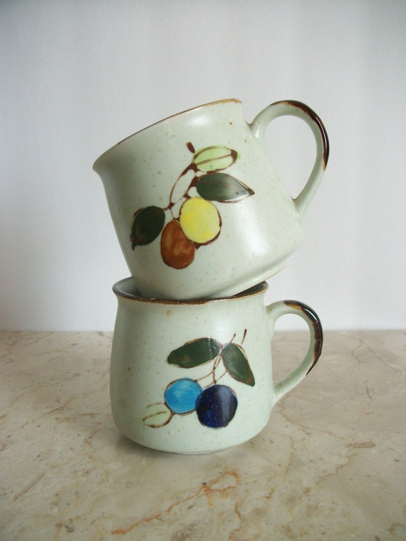 His and Hers Vintage Stoneware Mugs