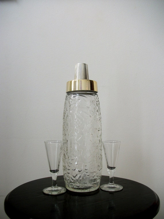 Art deco cutglass liquor bottle by noveltyandthings on etsy for Liquor bottle art