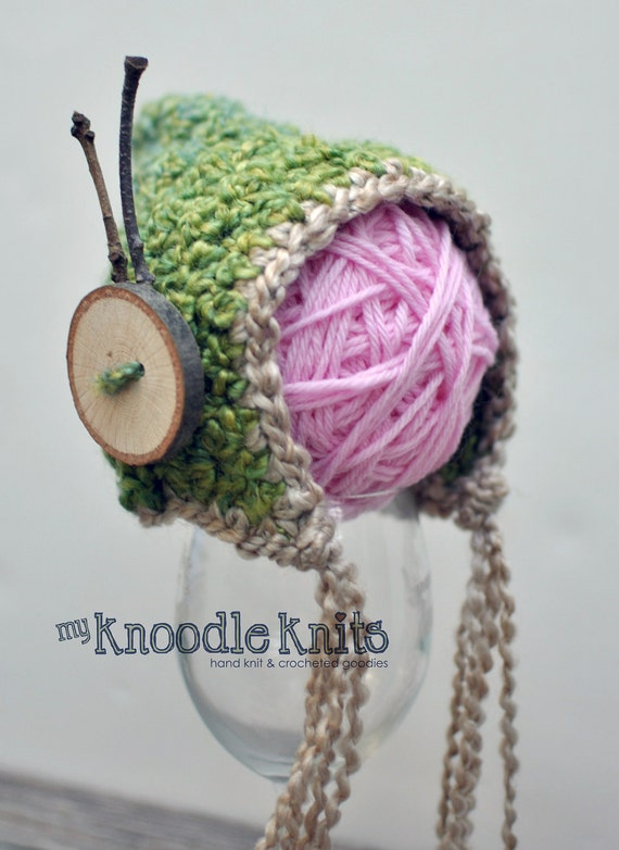 Bonnet Style Hat, Woodland Fantasy Hat, Elf Style Hood, Handmade and Crocheted Hat