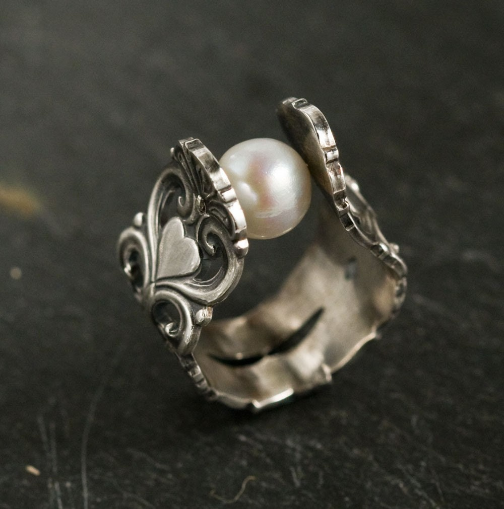 Rings Made Out Of Silver Spoons