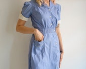 1950s Dress // May I Take Your Order // Vintage 1950s Waitress Uniform // S-M