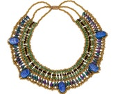 Egyptian Vivid Colors Queen Cleopatra Necklace 5 Scarab