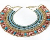 XLRG  Egyptian  bedead  Queen Cleopatra Necklace 9 Scarab