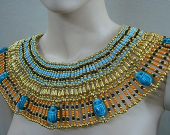 Popular items for cleopatra necklaces on Etsy