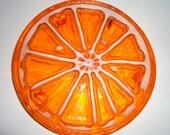 Vintage Resin Orange Slice Trivet Potholder