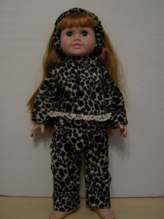 3 Piece Faux Fur 18 inch GIRL doll outfit