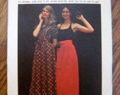 Vintage 1970s Butterick Misses Wrap and Go Skirt Sewing Pattern, Factory Folded