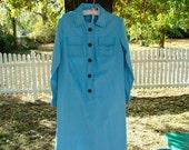 50s Blue Spectator Shirt Dress