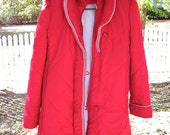 1980s Headliners Red with Cream piping winter coat