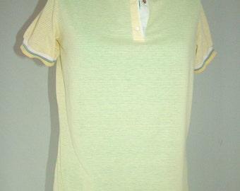 SUPER SALE 1980s Yellow Tail tennis shirt