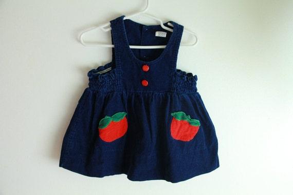 Navy corduroy apple jumper