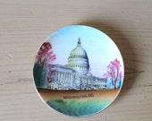 Vintage Washington DC Souvenir Plate by NICO - US Capitol Building