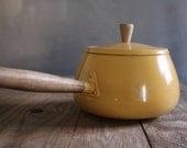 Vintage Fondue Pot - Mustard Yellow