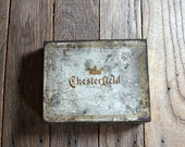 Vintage Chesterfield Cigarette Tin Box - Ligget and Myers Tobacco Company