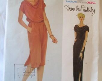 Vintage 70s Vogue Designer Diane Von Furstenberg dress pattern 2333 sz 8