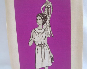Stylish vintage 60s Mail Order Lets Sew Pattern 4903 Day or Evening Dress Sz 14 Uncut