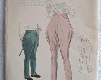 Fabulous vintage 40's 50's Vogue pattern 2478 for child's Jodhpurs or Riding Pants Size 6 Years FF Uncut