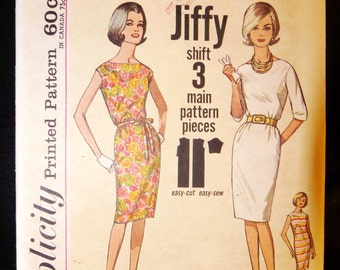Vintage 60's Simplicity  Pattern 4947 for classy classic dress Size Uncut FF