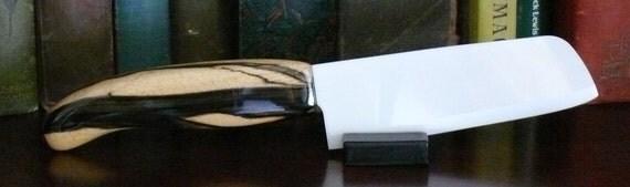 Ceramic Knife, Black & White Ebony Handle, Item 116