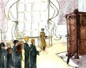 Harry Potter Fan Art - Neville's Boggart - Watercolor Print