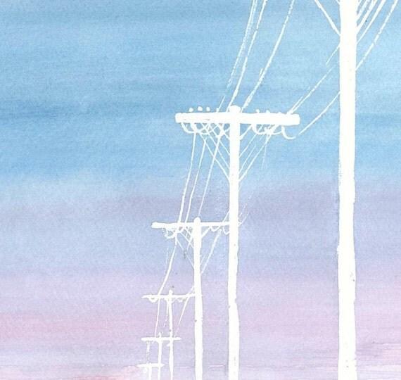 Powerscape - Watercolor Print