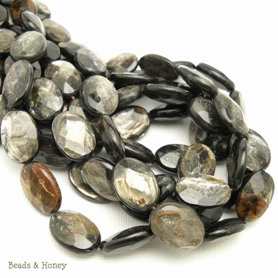 RESERVED: Golden Mica, Oval, Faceted, Gemstone Beads, 13x18mm, Large 4 Full Strands - ID 870