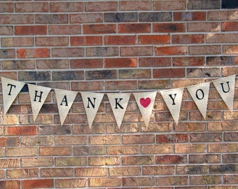 Thank-you Banner.....Burlap.....Bunting