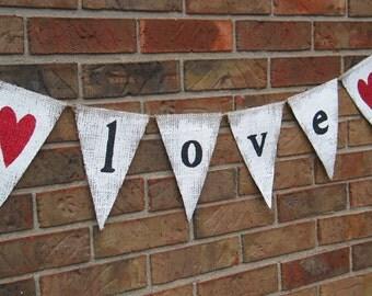 Love banner  ...   Burlap