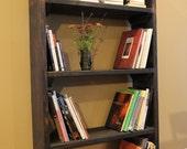 Rustic Bookshelf, book case, storage tower