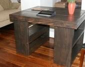 4 foot desk / Great DESK on bookshelves. Solid wood desk