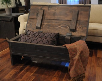 4 foot coffee table with storage
