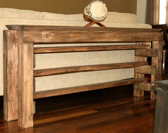 Gorgeous reclaimed long console / sofa table