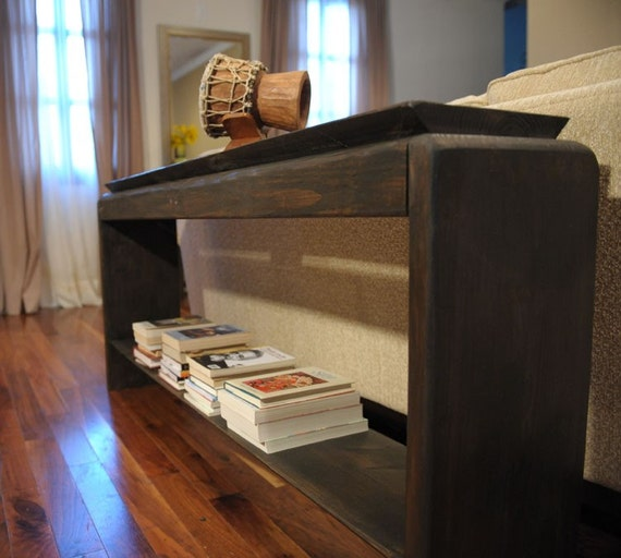 6 foot beveled console by modernrust on etsy for Sofa table 6 ft