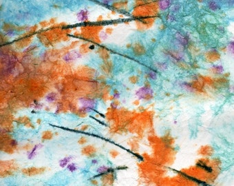 Batik Style/New England Fall-Scape No.2, limited edition of 50 fine art giclee prints