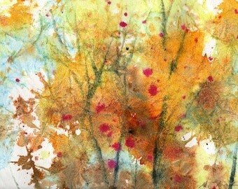 Batik Style/New England Fall-Scape No.26, limited edition of 50 fine art giclee prints
