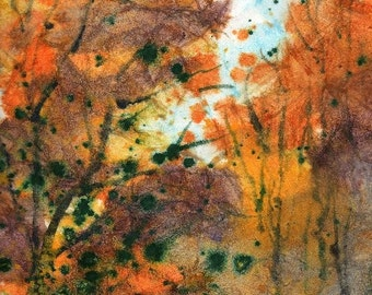 Batik Style/New England Fall-Scape No.33, limited edition of 50 fine art giclee prints