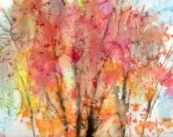 Batik Style/New England Fall-Scape No.22, limited edition of 50 fine art giclee prints