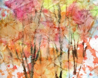 Batik Style/New England Fall-Scape No.21, limited edition of 50 fine art giclee prints