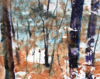 Batik Style No.47/New England Fall-Scape, limited edition of 50 fine art giclee prints
