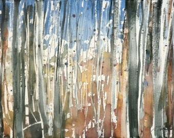 New England Fall-Scape No.31, original watercolor