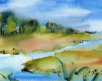Marsh No.136, limited edition of 50 fine art giclee prints