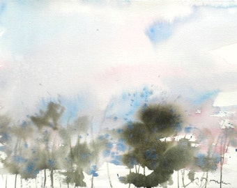 New England Spring-Scape No.94, original watercolor