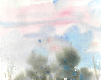 New England Spring-Scape No.95, original watercolor