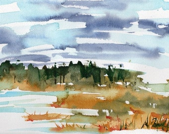 Marsh No.125, limited edition of 50 fine art giclee prints